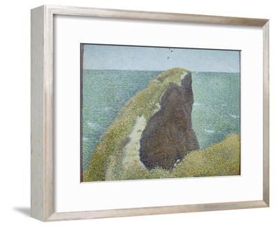 Le Bec Du Hoc, Grandcamp-Georges Seurat-Framed Giclee Print