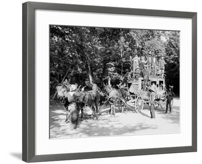 Niagara Falls, June 23D, 1898, Pawnee Bills Wild West Co.--Framed Photo