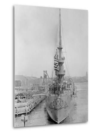 U.S.S. New Orleans at Brooklyn Navy Yard--Metal Print