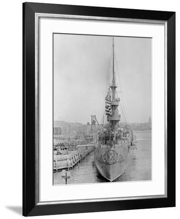 U.S.S. New Orleans at Brooklyn Navy Yard--Framed Photo