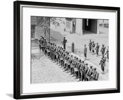 U.S.S. Boston, Riot Drill at Brooklyn Navy Yard--Framed Photo