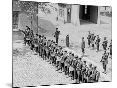 U.S.S. Boston, Riot Drill at Brooklyn Navy Yard--Mounted Photo