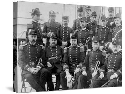 U.S.S. Lancaster, Officers--Stretched Canvas Print