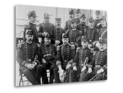 U.S.S. Lancaster, Officers--Metal Print