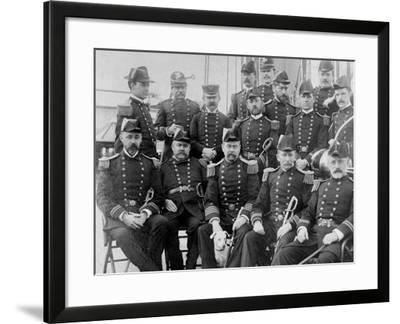 U.S.S. Lancaster, Officers--Framed Photo