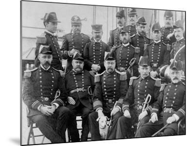U.S.S. Lancaster, Officers--Mounted Photo
