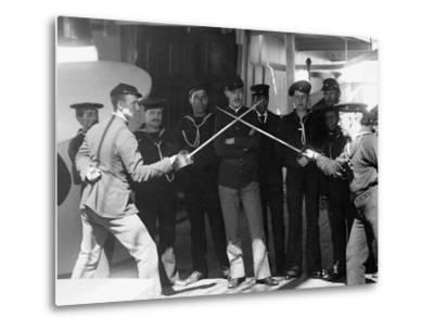 U.S.S. Newark, Sword Exercise--Metal Print