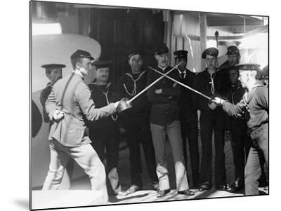 U.S.S. Newark, Sword Exercise--Mounted Photo
