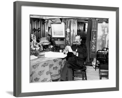 U.S.S. Baltimore, Captain Schley--Framed Photo
