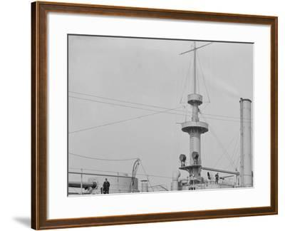 U.S.S. Brooklyn, Marine Guard Company Drill--Framed Photo