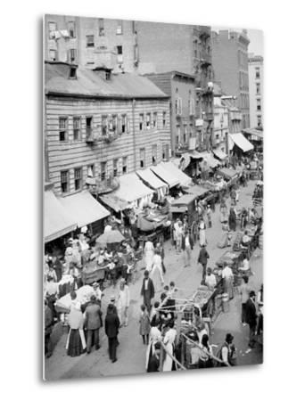 Jewish Market on the East Side, New York, N.Y.--Metal Print