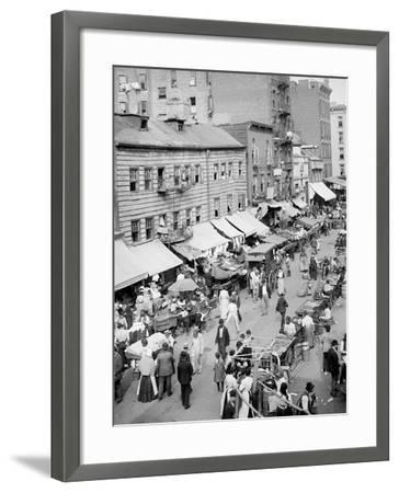 Jewish Market on the East Side, New York, N.Y.--Framed Photo