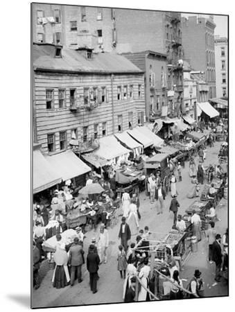 Jewish Market on the East Side, New York, N.Y.--Mounted Photo