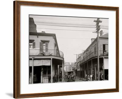 Italian Headquarters, Madison St., New Orleans, La.--Framed Photo
