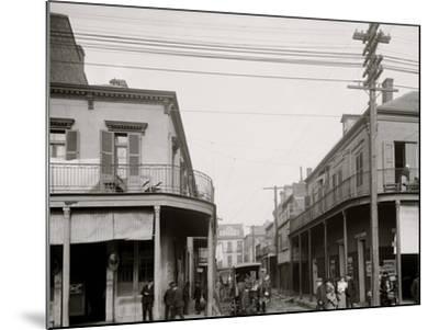 Italian Headquarters, Madison St., New Orleans, La.--Mounted Photo