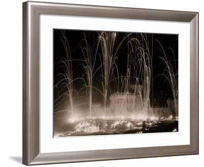 Midwinter Carnival, Storming the Fortress, Upper Saranac Lake, N.Y.--Framed Photo