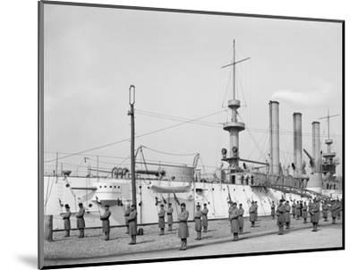 U.S.S. Brooklyn, Marine Guard, Signal Drill--Mounted Photo