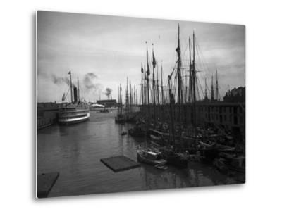 Schooners at the T Wharf--Metal Print