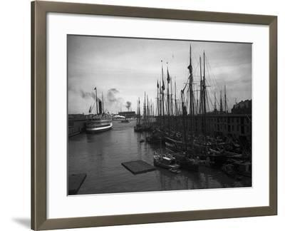 Schooners at the T Wharf--Framed Photo