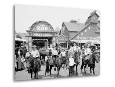 The Ponies, Coney Island, N.Y.--Metal Print