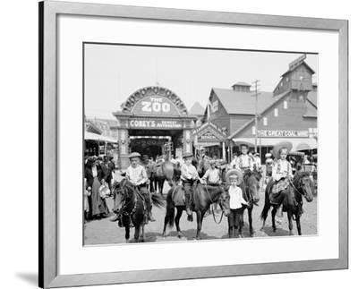The Ponies, Coney Island, N.Y.--Framed Photo
