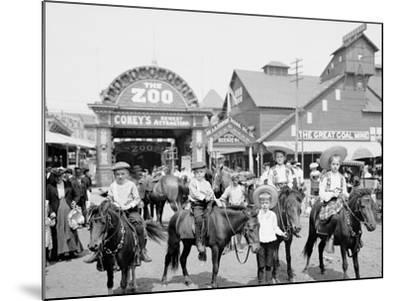 The Ponies, Coney Island, N.Y.--Mounted Photo