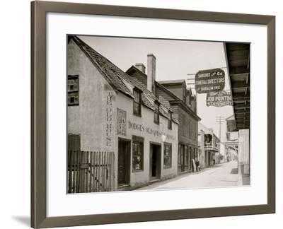 Dodges Old Curiosity Shop, St. George Street, St. Augustine, Fla.--Framed Photo