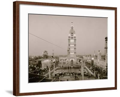 Dreamland at Twilight, Coney Island, N.Y.--Framed Photo
