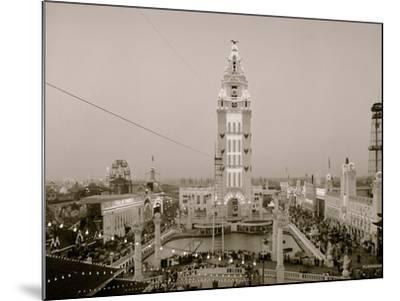 Dreamland at Twilight, Coney Island, N.Y.--Mounted Photo