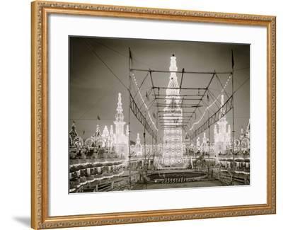 Night in Luna Park, Coney Island, N.Y.--Framed Photo