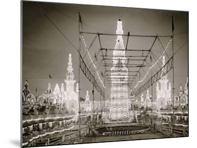 Night in Luna Park, Coney Island, N.Y.--Mounted Photo