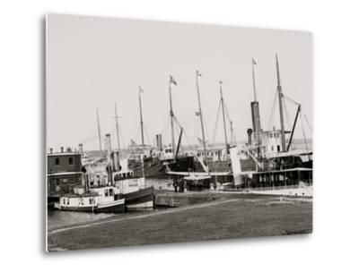 U.S. Government Fleet at Sault Ste. Marie, Mich.--Metal Print