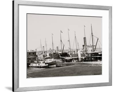 U.S. Government Fleet at Sault Ste. Marie, Mich.--Framed Photo