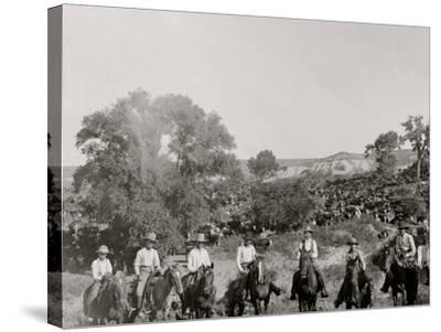 A Group of Texas Cowboys--Stretched Canvas Print