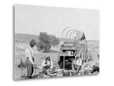 Camp Wagon on a Texas Roundup--Metal Print
