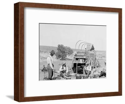 Camp Wagon on a Texas Roundup--Framed Photo