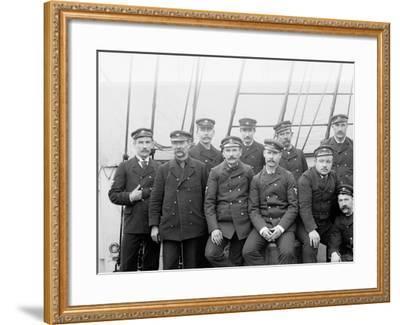 U.S.S. Boston Petty Officers--Framed Photo
