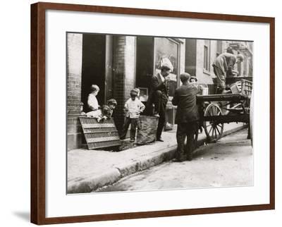 Boston Street Kids-Lewis Wickes Hine-Framed Photo
