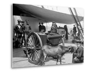 U.S.S. New York, Admiral Sampsons Son Andpitch the Mascot--Metal Print
