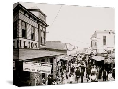 The Bowery, Looking East, Rockaway, N.Y.--Stretched Canvas Print