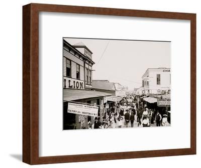 The Bowery, Looking East, Rockaway, N.Y.--Framed Photo