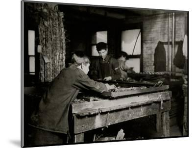 Linking Bed Springs-Lewis Wickes Hine-Mounted Photo