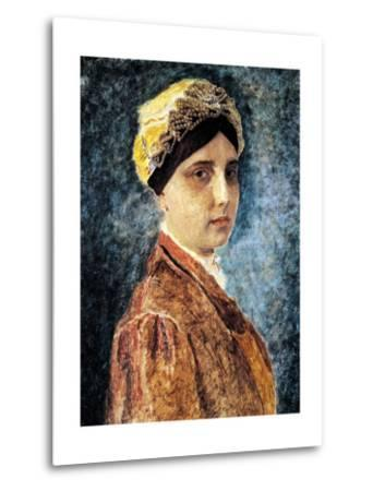 Young Woman with Sterntichel-Isidor Kaufmann-Metal Print