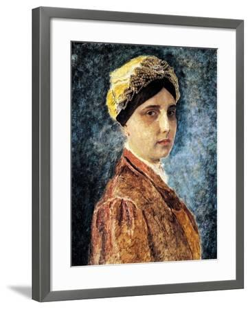 Young Woman with Sterntichel-Isidor Kaufmann-Framed Art Print