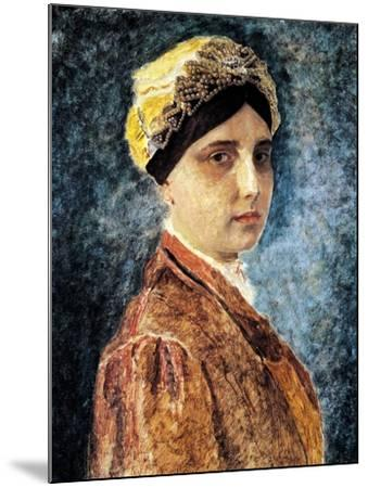 Young Woman with Sterntichel-Isidor Kaufmann-Mounted Art Print