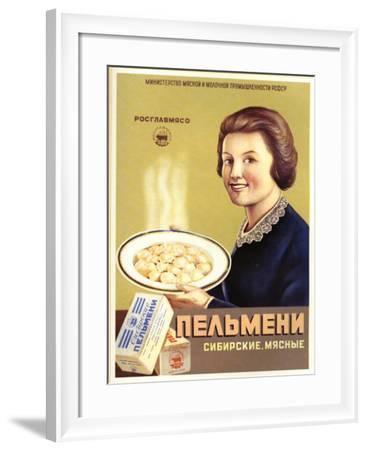 Siberian Meat - Pelmeni - Meat Stuffed in Pastry--Framed Art Print