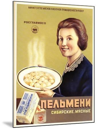 Siberian Meat - Pelmeni - Meat Stuffed in Pastry--Mounted Art Print