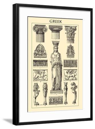framed agate slices.htm ornament greek art print by racinet art com  ornament greek art print by racinet