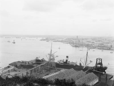 Harbor from Cabanas, Havana, Cuba--Framed Photo