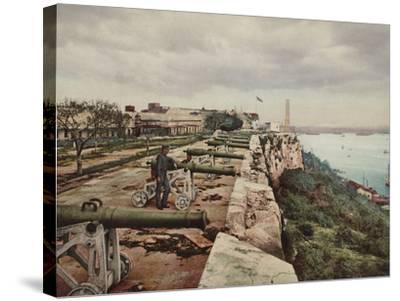 El Parapeto De La Cabana, Havana-William Henry Jackson-Stretched Canvas Print